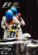 FORMULA ONE F1 2001 SILVERSTONE PROGRAMMA UFFICIALE