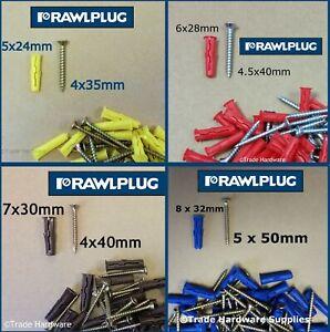 Rawlplug UNO Universal Wall Plug Fixings Anchor Rawl Plugs With Screws