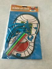 Smibo Learn To Lace Educational Homeschool Learning To Tie Shoes Blue 3+ Game