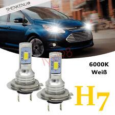 2x H7 LED Scheinwerfer Birne Lampen 6000K für Ford C-Max 2010-2015 Low beam Weiß