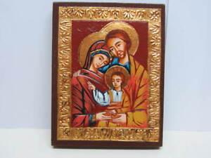 ICONA ortodossa bizantina russa riproduzione dipinta a mano certificato garanzia