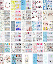 Nail Art Water Decal Stickers, Choice of Design, Flowers, Feather, Cute, UK