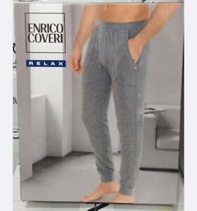 Pantalone Tuta Uomo Coveri Tinta Unita Tasche Laterali Elastico in Vita Cotone
