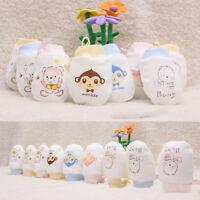 Baby Infant Toddler Anti Scratch Mittens Newborn Boy Girl Cartoon Cotton Gloves