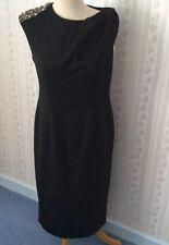 Ladies James Lakeland Black Dress-Bead/Diamanté Shoulder -Size UK12-14 -BNWT