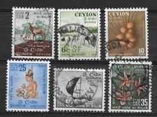 CEYLON , SRI LANKA , 1958/59 , SET OF 6  STAMPS , PERF , USED