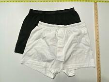 Calvin Klein Mens Button Fly Boxers - Large - Black - White - 2 Boxers