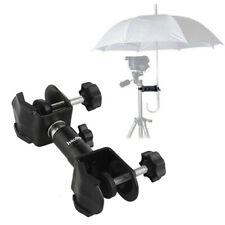 Aluminum Alloy DSLR Camera Tripod Stand Umbrella Holder Clamp Mount Rain Protect