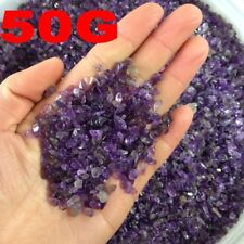 Natural Mini Amethyst Point Quartz Crystal Stone Rock Chips Lucky Healing- 50g