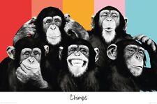 CHIMPS - POP ART POSTER - 24x36 COMPILATION MONKEY 22300