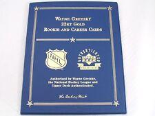 Wayne Gretzky 22Kt Gold Rookie and Career Cards Set Danbury Mint UDA NHL