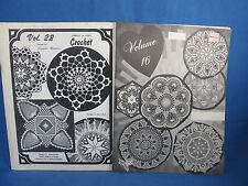 Doilies Doilies Doilies 2 Booklets of Crochet Doilies Patterns Vintage Patterns