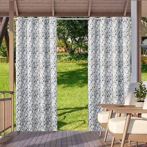 Waterproof Indoor/Outdoor Blackout Curtains Thermal Insulated for Patio Porch