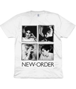 NEW ORDER - Portraits - 1982 - Organic T Shirt - Joy Division - Factory