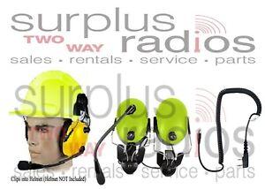 Yellow Construction Hard Hat Headset Kenwood TK3230 TK2312 NX320 NX220 TK3402