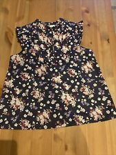 Janie And Jack  Floral Top Size 12 EUC