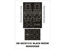 Montex 1/48 canopy masks for the Monogram P-61 Black Widow - SM48238