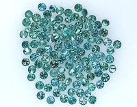 Natural Loose Diamond Round Blue Color I1-I3 Clarity 100 Pcs NQ535