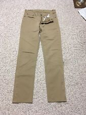 Levis 511 Skinny Fit Commuter Zip Fly jeans Khaki 31x30.5   1982