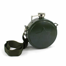 Novelty Army 500ml 18oz Hip Flask Star Emboss with Shoulder Strap for Festivals