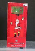 2003 Merry Marionette Dancing Action Santa Claus Marionette Christmas Ornament