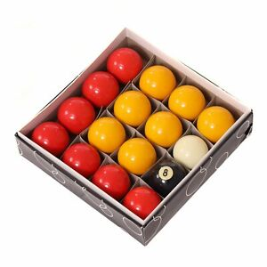 """NEW! Full Size UK Regulation 16 Red and Yellow Pool Ball Set 2"""""""