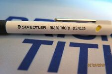 1 Staedtler Marsmicro 0.3 White Mechanical Pencil Rare New Germany Mars Micro