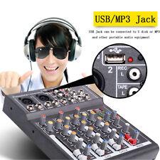 AUS Professional 4 Channel CH Live Studio Audio Sound USB Power Mixing Console