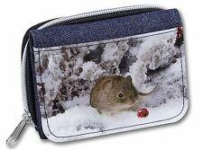 AS-4JW Forest Snow Squirrel Girls//Ladies Denim Purse Wallet Christmas Gift Idea