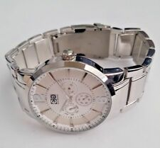 1 Day Only White Silver Chrono Subdial EnzoG with Boss Box, Warranty & Tag