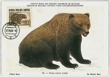 MAXIMUM CARD - POSTAL HISTORY - Albania: Bears, Fauna, 1964