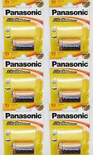 6 x Pila Pilas de 9V Alcalina PANASONIC POWER 6LR61 Bronze Award MN1604 2594