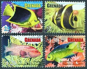 B179 GRENADA 2010 Fish, Coral. Marine Life, set of 4 stamps Mint NH