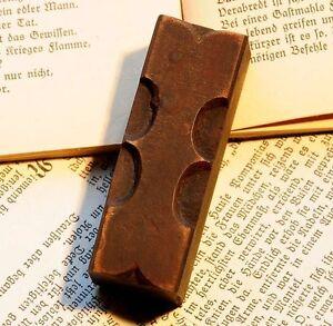"Letter ""I"" rare decorative wood type character letterpress printing block font ."