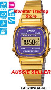 CASIO WATCH VINTAGE RETRO LADIES GOLD LA670WGA-6DF LA670WGA LA670