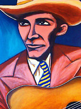 HANK WILLIAMS PRINT poster guitar country western bocephus legend hillbilly cd