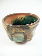 Vintage Studio Pottery Bowl - Manipulated Body & Glaze - Signed - Mid 20th C.