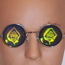 Holographic Hooded Skull Glasses 3D Poker Shades