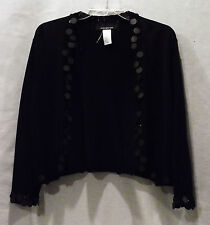 JONES NEW YORK COLLECTION  LADIES KENYA BLACK KNIT SWEATER SIZE XL NEW WITH TAG