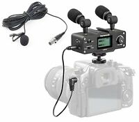 Saramonic DSLR Camera Audio Bundle w/ Mixer, Lavalier, & Dual Stereo Microphone