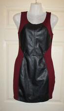 Burgundy and black PVC dress size 8