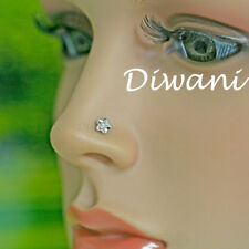 100% Natural VVS Diamond Flower Shape Nose Pin Lip Labret Stud Ring Screw 14k