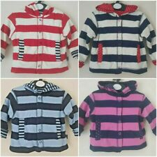 JOJO MAMAN BEBE BABY REVERSIBLE POPPERED /ZIPPED  JACKET HOODIE 4 COLOURS BNWOT