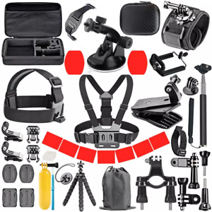 GoPro Accessories Set for Go Pro Hero 9 8 7 6 5 4 Black Mount
