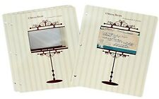 Vintage 3 x 5 Recipe Card Protector Pages/for 3-Rings/New/Meadowsweet Kitchens