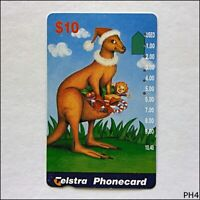 Telstra Christmas 1996 Kangaroo N964123a 1269 $10 Phonecard (PH4)