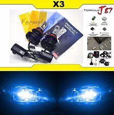 LED Kit X3 50W 9007 HB5 10000K Blue Head Light Two Bulbs Dual Beam Upgrade Lamp