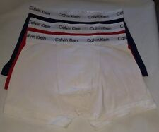 Calvin Klein Authentic Men's Boxer Shorts -Trunks 3 Pack White/Red/Navy Size M