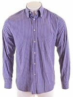 GANT Mens Shirt Medium Purple Striped Cotton Regular  MS18