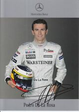 Pedro DE LA ROSA firmato MERCEDES-BENZ F1 PROMO CARD.